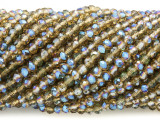 Smoky Amber Crystal Glass Beads 4mm (CRY442)