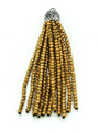 Gold Crystal Glass Beaded Tassel (CRY403)