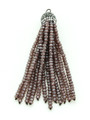 Mauve Crystal Glass Beaded Tassel (CRY406)
