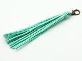 """Turquoise Leather Tassel - 5"""" (LR82)"""