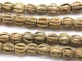 Ornate Round Brass Beads 12-15mm - Ghana (ME5694)