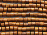 Tan Cylinder Wood Beads 6-7mm (WD949)
