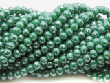 Green Round Crystal Glass Beads 6mm (CRY463)