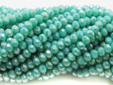 Aqua Turquoise Crystal Glass Beads 6mm (CRY495)