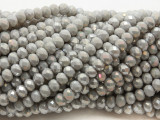 Light Gray Crystal Glass Beads 6mm (CRY501)