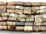 Tiger Fire Agate Rectangular Block Gemstone Beads 14mm (GS4416)