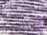 Amethyst Irregular Faceted Saucer Gemstone Beads 3-4mm (GS4432)