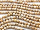 Matte Wood Agate Round Gemstone Beads 6mm (GS4460)