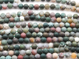 Matte Fancy Jasper Round Gemstone Beads 6mm (GS4463)