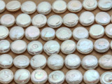 Ivory Round Tabular Pearl Beads 12mm (PRL202)