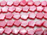Pink Flower Tabular Shell Beads 15mm (SH568)