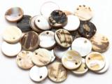Natural Shell Round Pendants 15mm (SH569)