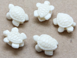 White Turtle Resin Bead 15mm (RES620)