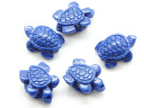 Blue Turtle Resin Bead 15mm (RES624)