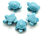 Light Blue Turtle Resin Bead 15mm (RES625)