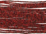 "Small Dark Red Glass Beads - 44"" strand (JV9074)"