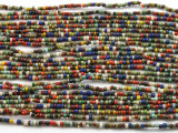 "Small Multi-Color Glass Beads - 44"" strand (JV9075)"