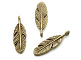 Brass Feather - Pewter Pendant 30mm (PW934)