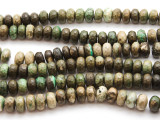 Chrysoprase Faceted Rondelle Gemstone Beads 8-11mm (GS4472)