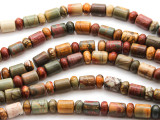 Red Creek Jasper Barrel & Rondelle Gemstone Beads 8mm (GS4473)