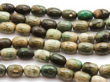 Chrysoprase Faceted Barrel Gemstone Beads 14mm (GS4485)