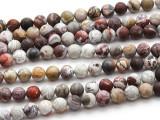 Matte Laguna Lace Agate Round Gemstone Beads 8mm (GS4495)