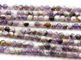Chevron Amethyst Faceted Round Gemstone Beads 6mm (GS4516)