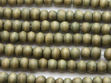 Olive Green Round Wood Beads 6-7mm - Indonesia (WD974)