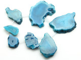 Blue Agate Slab Gemstone Beads 25-61mm (AS957)