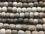 "Stegodon Mammoth Fossilized Bone Beads 10-15mm - 11"" Strand (RF830)"