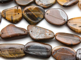 Tiger Eye Nugget Tabular Gemstone Beads 25-35mm (GS4543)