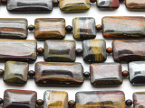 Tiger Iron Rectangle Tabular Gemstone Beads 15-30mm (GS4553)