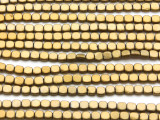 Brass Electroplated Hematite Square Gemstone Beads 4mm (GS4563)