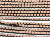Copper Electroplated Hematite Square Gemstone Beads 4mm (GS4566)