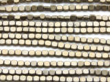 Antique Brass Electroplated Hematite Square Gemstone Beads 4mm (GS4567)
