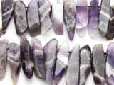 Chevron Amethyst Stick Gemstone Beads 28-47mm (GS4610)