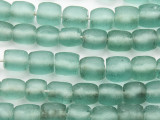 Coke Bottle Barrel Recycled Glass Beads 12mm - Indonesia (RG626)
