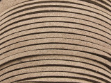 """Taupe Suede Leather Lace 2.5mm - 36"""" (LR99)"""