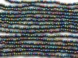 """Metallic Jeweltone Glass Beads - 44"""" strand (JV9082)"""