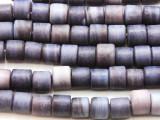 Lavender Purple Cylinder Glass Beads 8mm (JV1220)