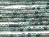 Transparent Turquoise Irregular Glass Beads 4-5mm (JV1225)