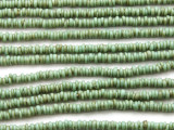 Turquoise Green Irregular Heishi Glass Beads 5-2mm (JV1235)