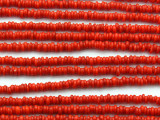 Red Irregular Heishi Glass Beads 5-2mm (JV1236)