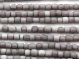 Purple Gray Irregular Cylinder Glass Beads 4-7mm (JV1239)