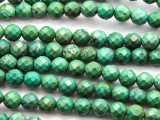 Green Turquoise Faceted Round Beads 8mm (TUR1310)