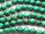 Green Turquoise Faceted Round Beads 10mm (TUR1311)
