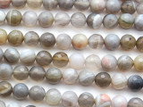 Montana Agate Faceted Round Gemstone Beads 8mm (GS4638)
