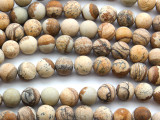 Matte Picture Jasper Round Gemstone Beads 8mm (GS4648)