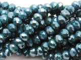 Cadet Blue Crystal Glass Beads 8mm (CRY518)