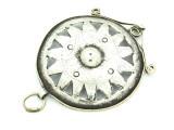 Afghan Tribal Silver Pendant - Amulet 84mm (AF773)